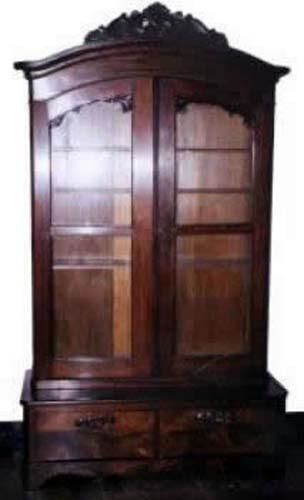 Victorian Rosewood Rococo Revival Bookcase