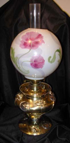 Lamp: B & H Art Nouveau Kerosene Lamp