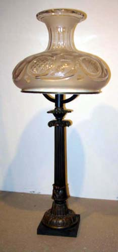 Antique Bronze  Sinumbra Lamp, never wired