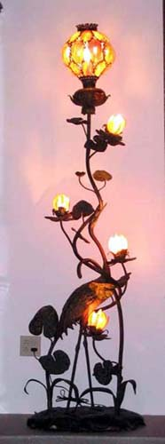 Floor lamp:  Exotic Bronze Bird Floor Lamp