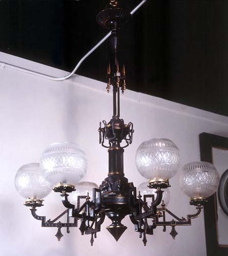 Bronze Egytian Gas -Chandelier 239-a