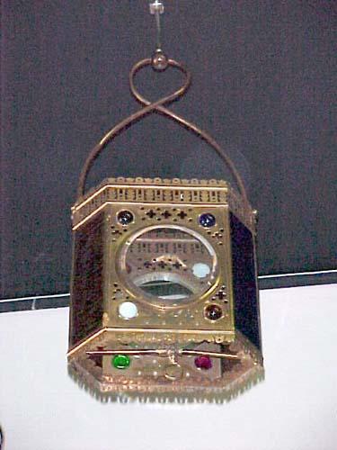 Victorian Jeweled Gas Hall Lantern - 259