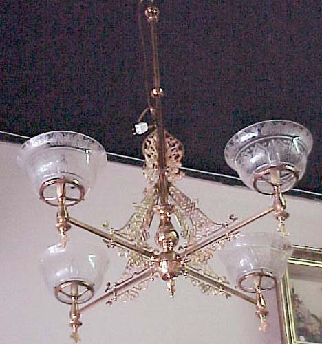 Victorian 4 arm Aesthetic Gas Chandelier - 258