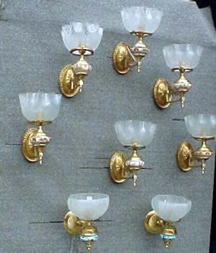 Prs of Aesthetic Satsuma Gas Sconces - 247