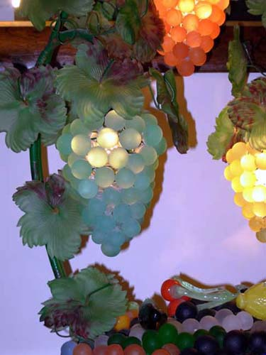 Murano Italian Glass Fruit lamp Sold