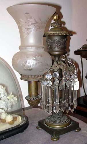 Pr Argand Lamps by J&I Cox SOLD