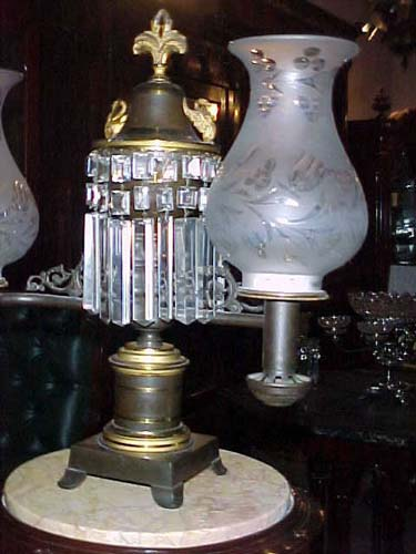 Bronze Argand Lamp - 296