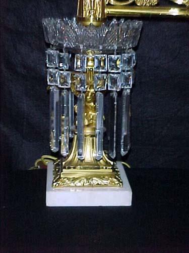 Lamps:Pr of Eagle Argand Lamps by Baldwin Gardner