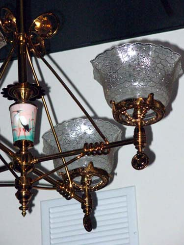 Aesthetic 4 Arm Gas Chandelier SOLD