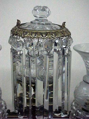 Antique Crystal Argand Lamp - 280