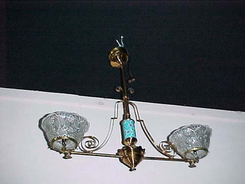 Victorian Longwy 2 Arm Gas Chandelier - 269