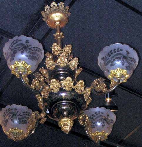Cornelius & Co Rococco 4 Arm Gas Chandelier