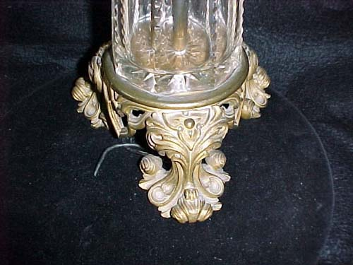 Sinumbra Lamp with Crystal & Bronze Gothic Base -