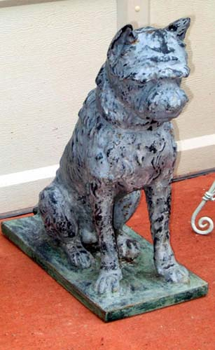 Dog, Cast Iron & Zinc. Mott or Fiske
