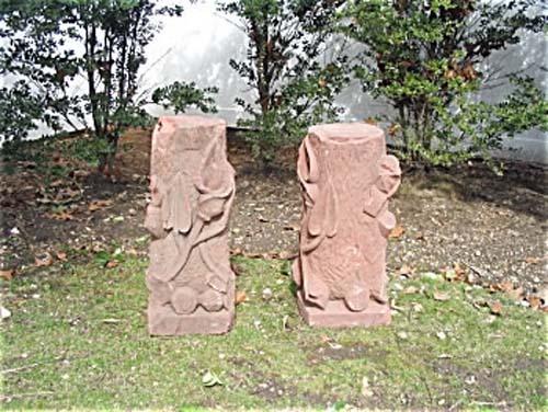 Garden Pr Sandstone pedestals