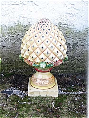Garden Antiques Pr of Pineapple Finials: