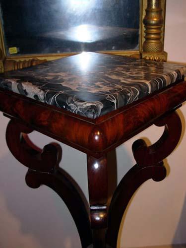 Pedestal: Classical Mahogany Attrib to Meeks: