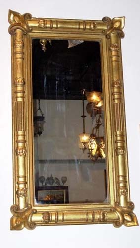 Mirror; American Gilt Classical Mirror: