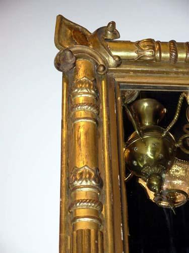 Mirror; American Gilt Classical Mirror: