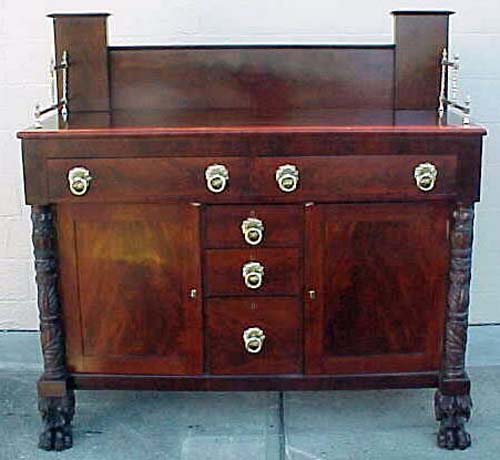 Am. Classical or Empire Sideboard:Sold - Antique Empire Furniture