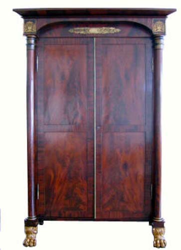 Armoire:Am.Classical Stenciled Armoire attrib to M