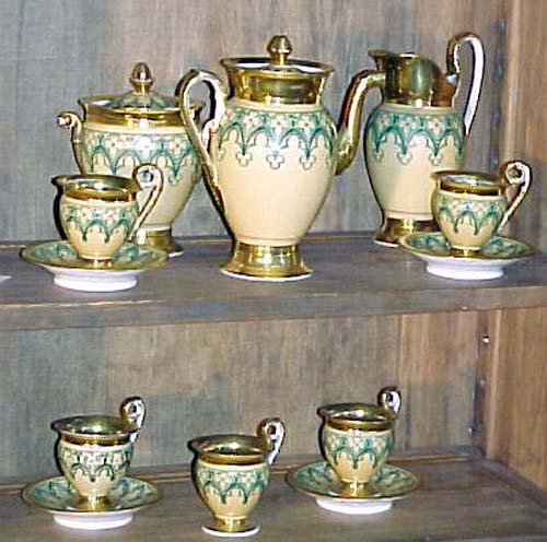 Gothic Old Paris Tea Set:-SOLD