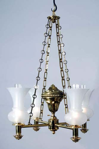 Argand Chandelier: SOLD