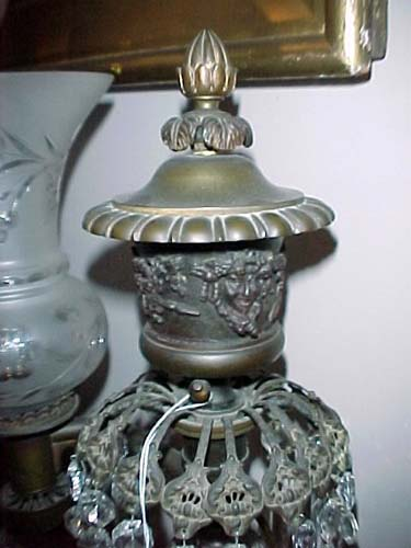 Argand Bronze Lamps sgd Cox NY SOLD