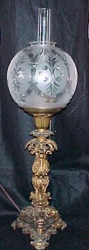 Antique Solar Lamp, SOLD