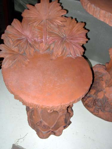 Antique Terra Cotta Table and Chairs: