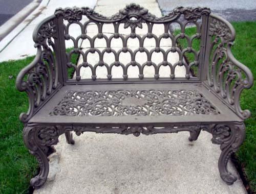 Cast Iron Garden Bench By Kramer Bros SOLD