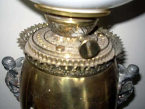 Victorian Banquet Lamp brass base
