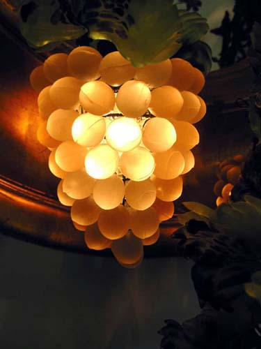 Antique Italian Glass Grape Lamp-SOLD
