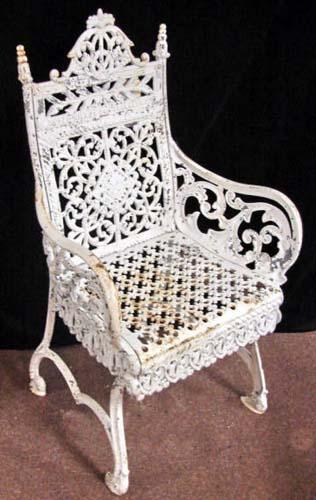 Cast Iron Timmes Garden Chair-SOLD