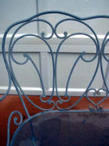 Wrought Iron Bench   SOLD