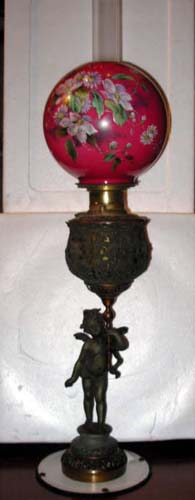 Lamps, Victorian Kerosene Newel Light