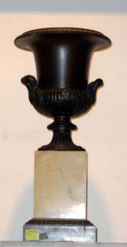 Urn  Bronze and Marble Urn