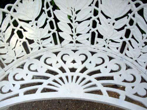Garden Bench, Laurel Pattern -SOLD