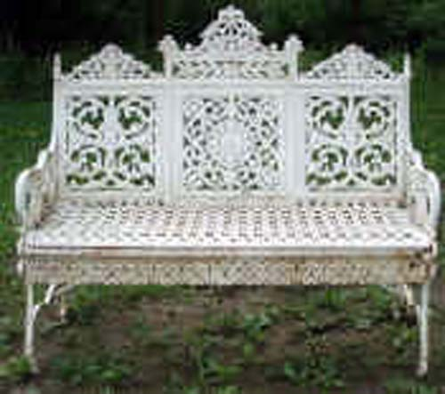 Cast Iron Timmes Garden Bench SOLD