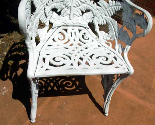 Chair, Cast Iron Fern Pattern Pr SOLD