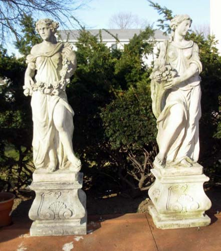 Garden Statues Spring & Autumn SOLD