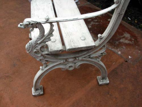 Cast Iron Coalbrookdale armchairs SOLD