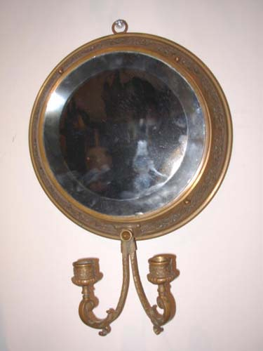 American  Aesthetic Movement Brass Mirror