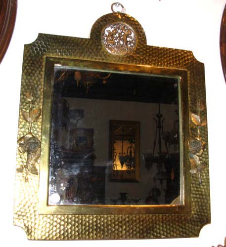 American Aesthetic Brass Mirror by Meridan