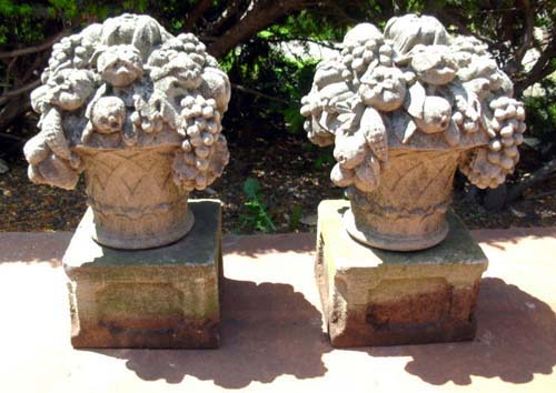 Cast Stone Fruit Baskets  SOLD