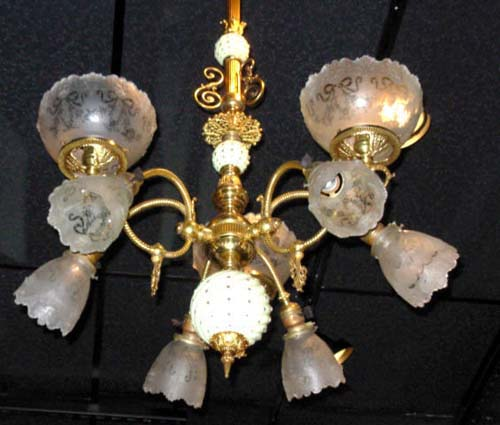 Chandelier,Gas/Electric 9 arm