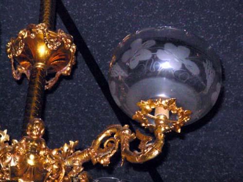 Victorian Rococco 4 Arm chandelier