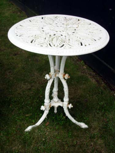 Table, Antique Cast Iron Rd SOLD