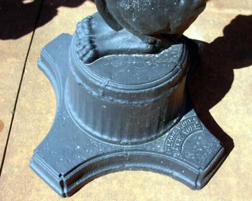 Urns,  Antique Figural Cast Iron Signed. SOLD