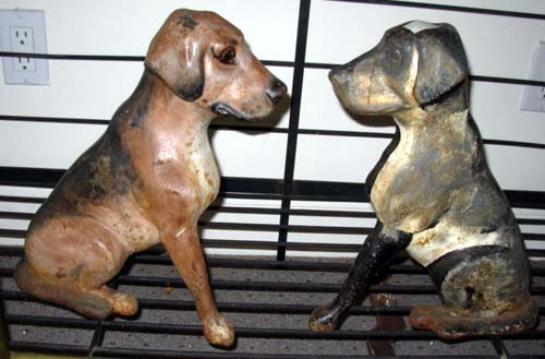 Dog Andirons  SOLD